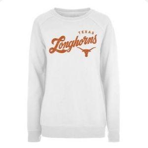 Longhorns Women White Penelope Crew Sweatshirt 2XL